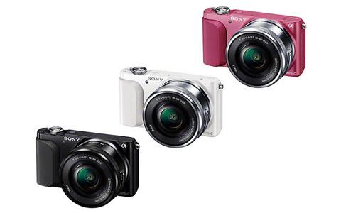 NEX-3Nはホワイト・ピンク・ブラックの3色から選べます