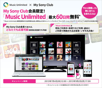 「Music Unlimited」に加入して