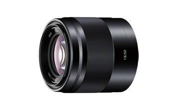 単焦点レンズ「SEL50F18」カラバリ:ブラック