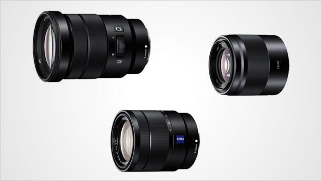 NEX用レンズ 手ブレ補正カールツァイスレンズ「SEL1670Z」、電動ズームGレンズ「SELP18105G」など3機種が新発売