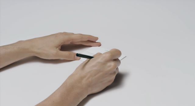 何やら鉛筆で線が