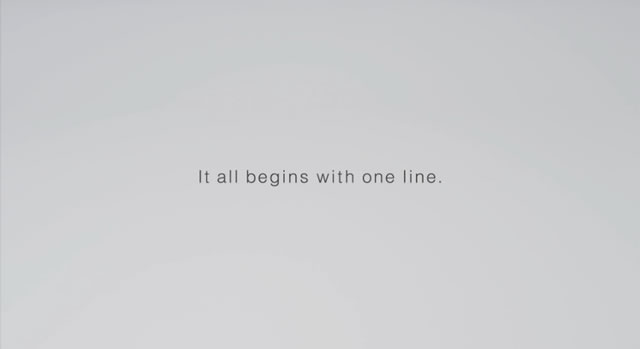 It all begins with one line