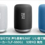 音響メーカーならでは、声も音楽も360°いい音で聞こえる スマートスピーカー「LF-S50G」12月9日 発売