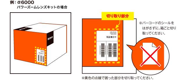 キャンペーン応募の際はバーコード部分を箱ごと切り取ってください
