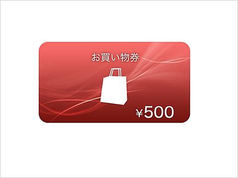 購入金額が5,000円以上になる「お買い物券」