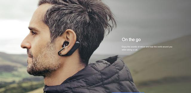耳にかけずに、耳の穴で保持する新しいスタイル