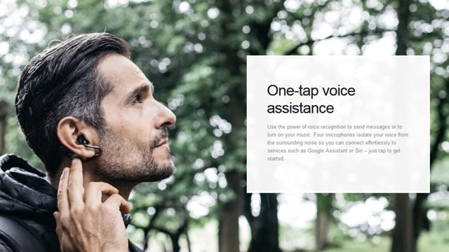ハンズフリーで通話やメッセージの送受信、ヘッドジェスチャーによる操作も可能