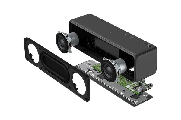 ハイレゾ対応約35mmフルレンジスピーカーユニットを搭載
