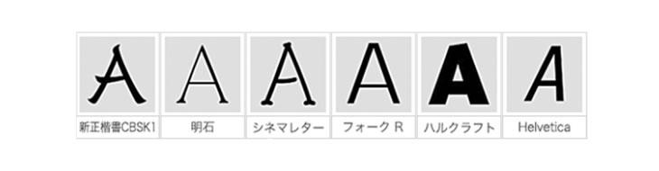 フォントは6種類から選択