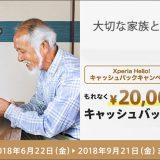 大切な家族とつながろうXperia Hello!2万円キャッシュバックキャンペーン
