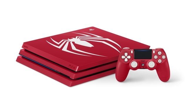 PlayStation4 Pro Marvel's Spider-Man Limited Edition(横置き)