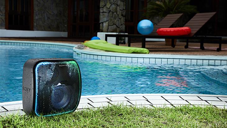 「SRS-XB501G」IP65防塵・防水機能