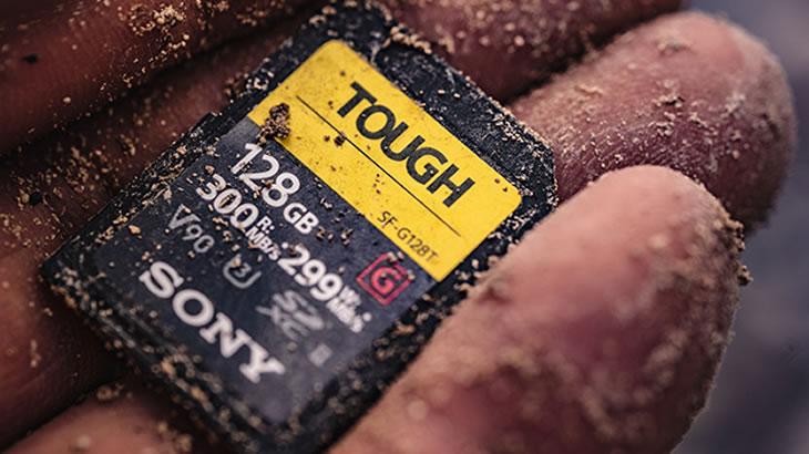 プロの現場に望まれる高耐久、防水・防塵性を備えたUHF-II対応メモリーカード「SF-Gシリーズ タフ仕様」発売