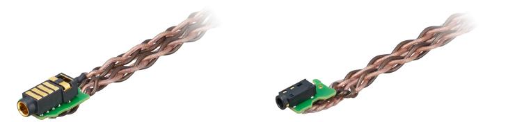 KIMBER KABLE(R)社との協力によって開発された4芯Braid(編み)構造のケーブル