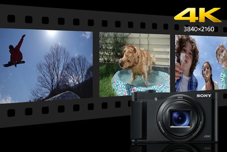 手ブレに強い4K(3840×2160)画質の動画撮影