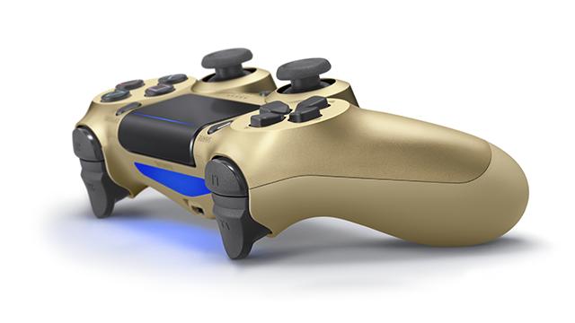 PS4コントローラー再販「ゴールド」側面