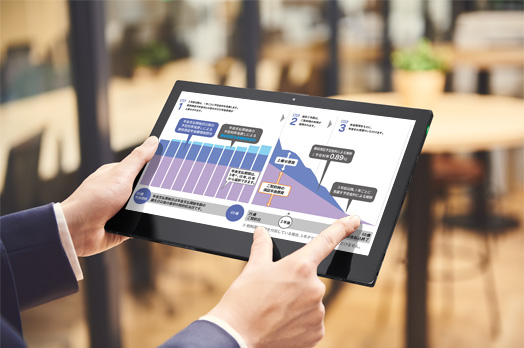 12.5型ディスプレイは直感的なタッチ操作に対応
