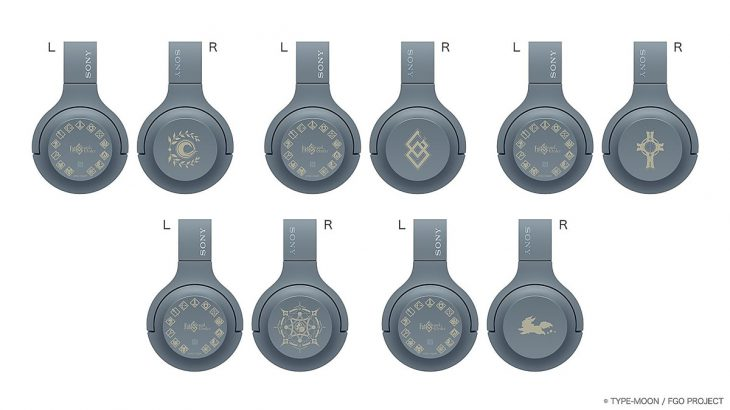全5種類の刻印 FGOコラボワイヤレスヘッドホン「WH-H800」