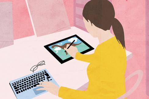 ワイヤレス機能ありのキーボードと組み合わせて、液晶ペンタブレットのような使い方も可能